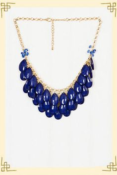 The royal blue necklace I've been searching for!