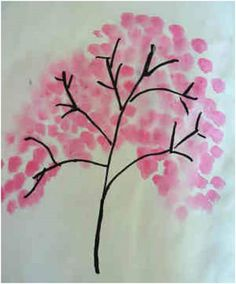 Teaching about Japan: blossom painting