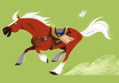 "4,328 次赞、 19 条评论 - Elsa Chang (@elsasketch) 在 Instagram 发布:""#Epona for @sketch_dailies #zelda"""