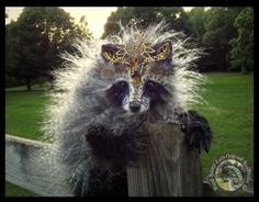 SOLD HAND MADE Poseable Fantasy Imperial Raccoon by Wood-Splitter-Lee