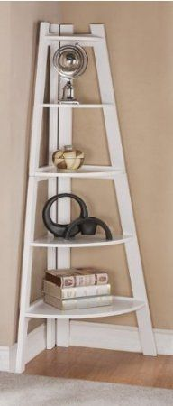 Amazon.com - White Finish 5 Tier Corner Display Unit Shelf / Rack F04040