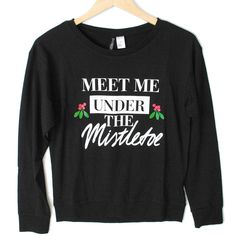 H&M Meet Me Under The Mistletoe Ugly Christmas Sweatshirt
