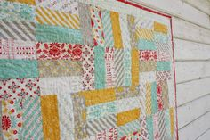 Quick Baby Quilt Ideas Patterns | Diary of a Quilter - a quilt blog: Easy Baby Jelly Roll Quit Pattern