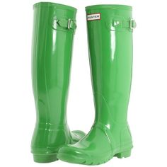 Hunter Original High Gloss'11 ($125) ❤ liked on Polyvore featuring shoes, boots, rain boots, knee-high boots, rubber boots, knee boots, wellies boots, knee-high waterproof boots and waterproof wellington boots