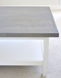 Gorgeous stain by Rustoleum called Weathered Gray.  Awesome transformation.
