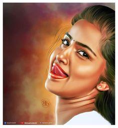 Beautiful Girl Sketch, Beautiful Girl Indian, Most Beautiful Indian Actress, Couple Photoshoot Poses, Fantasy Art Women, Anupama Parameswaran, Actor Picture, Indian Art Paintings, Art Corner