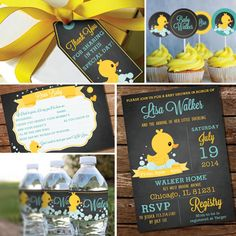 Chalkboard Rubber Duck Baby Shower Theme  by SunshineParties, $18.00