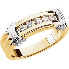 14kt Yellow & White 1/2 CTW Diamond Ring
