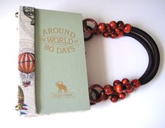 Around the World in 80 Days Book Purse. $95.00, via Etsy.
