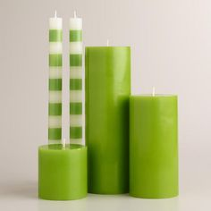 One of my favorite discoveries at WorldMarket.com: Green Unscented Candle Collection