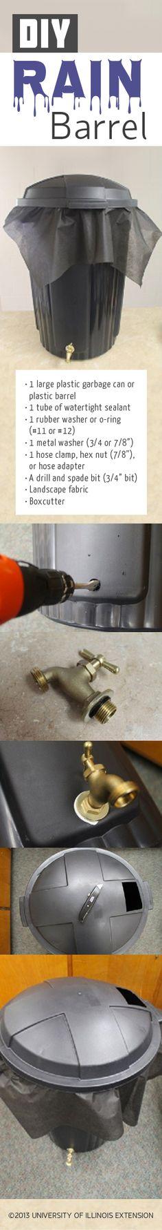 DIY: Make Your Own Rain Barrel