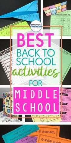 Favorite Back to School Activities