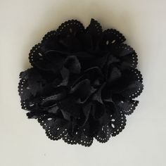 """ONE 3""""  Large Black Eyelet Fabric Flower-Applique-hairbow supplies-diy wedding-crafts-scrapbook-headband supplies-wholesale Flowers-Bulk by BBBSupply on Etsy"""