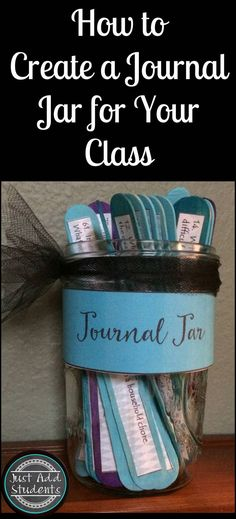 Looking for ways to inspire teen writers? This journal jar is filled with 101 writing prompts! Easy to make -- perfect for writing workshop, journaling, or creative writing time.