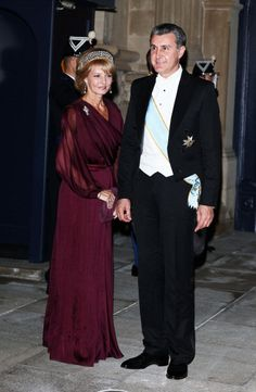 Princess Margarita of Romania & Prince Radu of Romania at the gala dinner for the wedding of Prince Guillaume, Hereditary Grand Duke of Luxembourg & Countess Stéphanie de Lannoy (Luxembourg, Luxembourg) Royal Tiaras, Royal Jewels, Crown Jewels, Romanian Royal Family, Grand Duchess Olga, Old King, Gala Dresses, First Daughter, Royal Princess