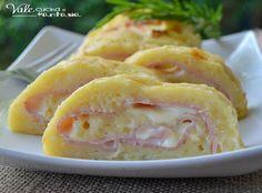 Rotolo di patate con prosciutto e formaggio