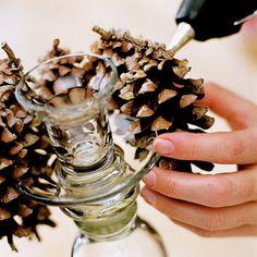 beautiful christmas candle sticks