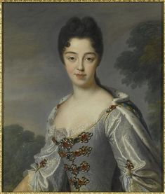 1709 Marie-Adelaide de Savoie, duchesse de Bourgogne, dauphine en 1711 (1685-1712) by ? after Jean Baptiste Santerre (Versailles) Photo - Gerard Blot