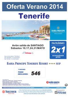 Tenerife, 2x1 Bahia Principe Tenerife Resort, salidas 10, 17, 24 y 31 Mayo desde Santiago ultimo minuto - http://zocotours.com/tenerife-2x1-bahia-principe-tenerife-resort-salidas-10-17-24-y-31-mayo-desde-santiago-ultimo-minuto/