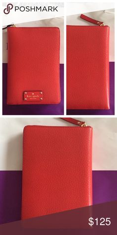 "♠️ Rare Cherry Liqueur Kate Spade Agenda Wellesley Cherry Liqueur 2017 Day Zip Around Personal Planner Organizer 100% Authentic. Never used! Brand new with tag! MSRP 198.00 embossed cowhide with matching trim custom woven lining 14-karat light gold plated hardware zip around closure slide pocket and pen slot 8 credit card slots six ring binder 7.6""h x 5.3""w Very limited release Color  From my smoke/Pet free home. Thanks for looking! kate spade Accessories"