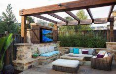 Outdoor Tv Enclosure Patio Design Ideas Outdoor Furniture Fire Pit