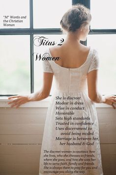 Being a Titus 2 woman Christian Women, Christian Living, Christian Life, Christian Quotes, Christian Warrior, Christian Pictures, Christian Marriage, Godly Wife, Godly Woman