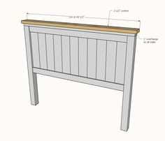 Farmhouse Bed - Queen Sized - Diagram showing attaching the top to the headboard panel - Bed Frame Plans, Diy Bed Frame, Bed Plans, Bed Frames, Diy Bett, Ikea, Diy Furniture Plans, Furniture Logo, Furniture Market