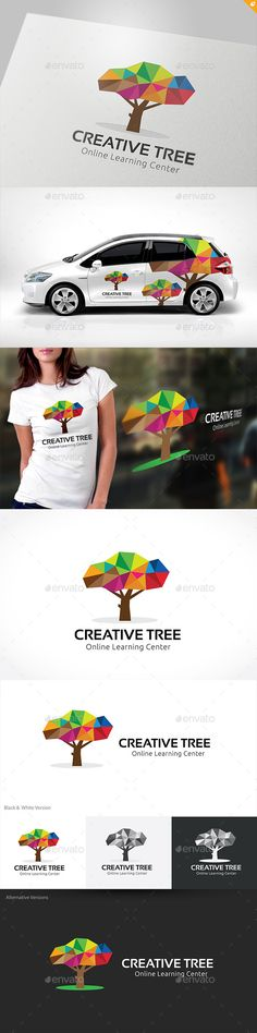 Creative Tree — Vector EPS #mobile data #digital brain • Available here → https://graphicriver.net/item/creative-tree/11125065?ref=pxcr