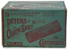 RARE EARLY Peters Quick Shot 12Ga. Shotshell Box Full Correct Auction