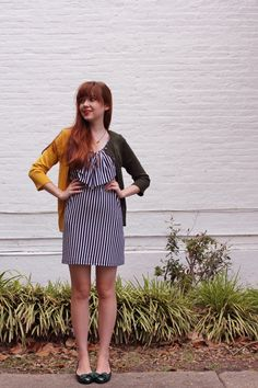 double sided sweater and stripe dress... mmm yes.