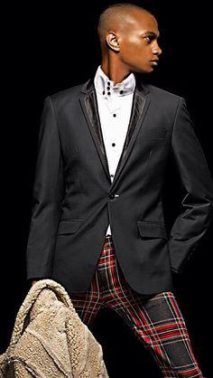 Men's fashion... Plaid pants
