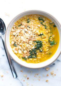 Turmeric Lentil & Farro Soup
