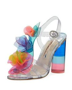 595 2019 Sophia Webster Jumbo Lilico Rosa Sandals at Neiman Marcus. Shop the latest luxury fashions from top designers. Cute Shoes, Me Too Shoes, Sophia Webster Shoes, Clear Shoes, Shoe Boots, Shoes Heels, Jelly Shoes, Ankle Straps, Bag Accessories