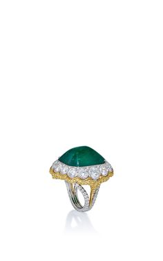 Colombian Emerald And Diamond Ring   by BAYCO Now Available on Moda Operandi