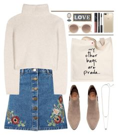 """""""Daily"""" by saramsilva ❤ liked on Polyvore featuring Miss Selfridge, The Row, Prada, Witchery, Speck, NARS Cosmetics, Parlane, Forever 21, Winter and beige"""
