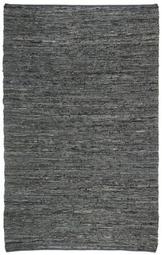 Hand-woven Leather Chindi Rug