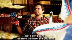 Nick Miller doesn't dance.