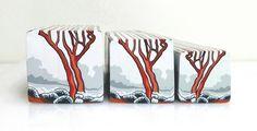 "Tree cane #34 ""Salmon Gums in the Mist 1"" by Wendy Jorre de St Jorre."