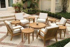 Teak-Deep-Seating-Lounge-Furniture from Westminster Teak Furniture Teak Outdoor Furniture, Patio Furniture Sets, Garden Furniture, Furniture Design, Bedroom Furniture, Repurposed Furniture, Furniture Buyers, Furniture Dolly, City Furniture