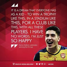 Arsenal Quotes of 2015: Héctor Bellerín on winning the FA Cup