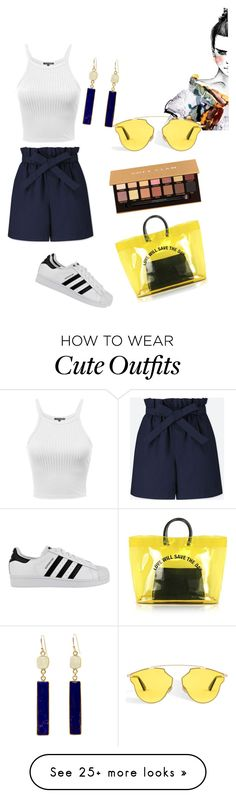 """casual and cute"" by duniaxbts on Polyvore featuring Uniqlo, adidas, Dsquared2, Anastasia Beverly Hills, BeachPlease and vacayoutfit"