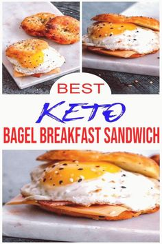 #Keto #breakfast #eggs #healthy #gluten Keto Breakfast Yummy keto bagel breakfast sandwich BEST low carb keto recipe for amazing bacon cheese egg bagel sandwich Simple ingredients for tasty  delish ketogenic diet bagels Keto friendly recipe for homemade breakfast sandwich Great keto breakfast lunch brunch or dinner meal idea Skip fast food or takeout for healthy breakfast Make them ahead on meal prep day  freeze Low carb gluten free sugar free bagel  Check out this favorite keto food recipe… Bagel Breakfast Sandwich, Breakfast Lunch Dinner, Make Ahead Breakfast, Homemade Breakfast, Dinner Meal, Breakfast Ideas, Breakfast Recipes, Low Carb Bagels, Keto Bagels