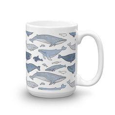 Whale Pattern Ceramic Mug