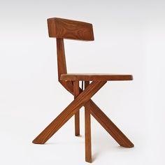 Pierre Chapo; #S34 Wood Chair, c1980.
