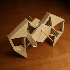 Paper craft Theo Jansen Animaris Rhinonics Transport' by mitsuakimaruyama, via Flickr