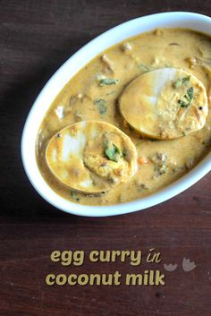 The easiest and best egg curry recipe in coconut milk I've ever made. Step by step instructions too!