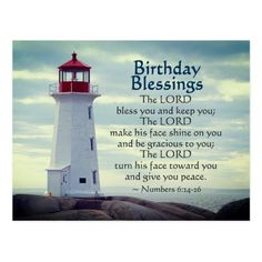 Shop Birthday Blessings Numbers Lighthouse Postcard created by CChristianDesigns. Happy Birthday Christian Quotes, Happy Birthday Religious, Birthday Blessings Christian, Blessed Birthday Wishes, Spiritual Birthday Wishes, Happy Birthday Prayer, Birthday Verses, Happy Birthday Brother, Happy Birthday Wishes Quotes