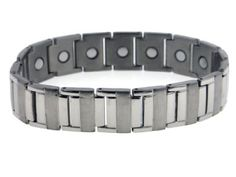"""Men's Heavy-Duty Sierra Link Titanium Chain 8.25"""" Bracelet with Magnets. 15mm or 5/8"""" Wide. 8.25"""" (21cm) Long. 3mm Thick. Fold Over Clasp. ND 3000 gauss Magnets."""