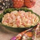 Shrimp Salad Recipe, suggest sub. celery salt for celery, or chicken for shrimp.