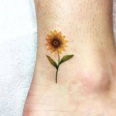 Resultado de imagem para sunflower tattoo small